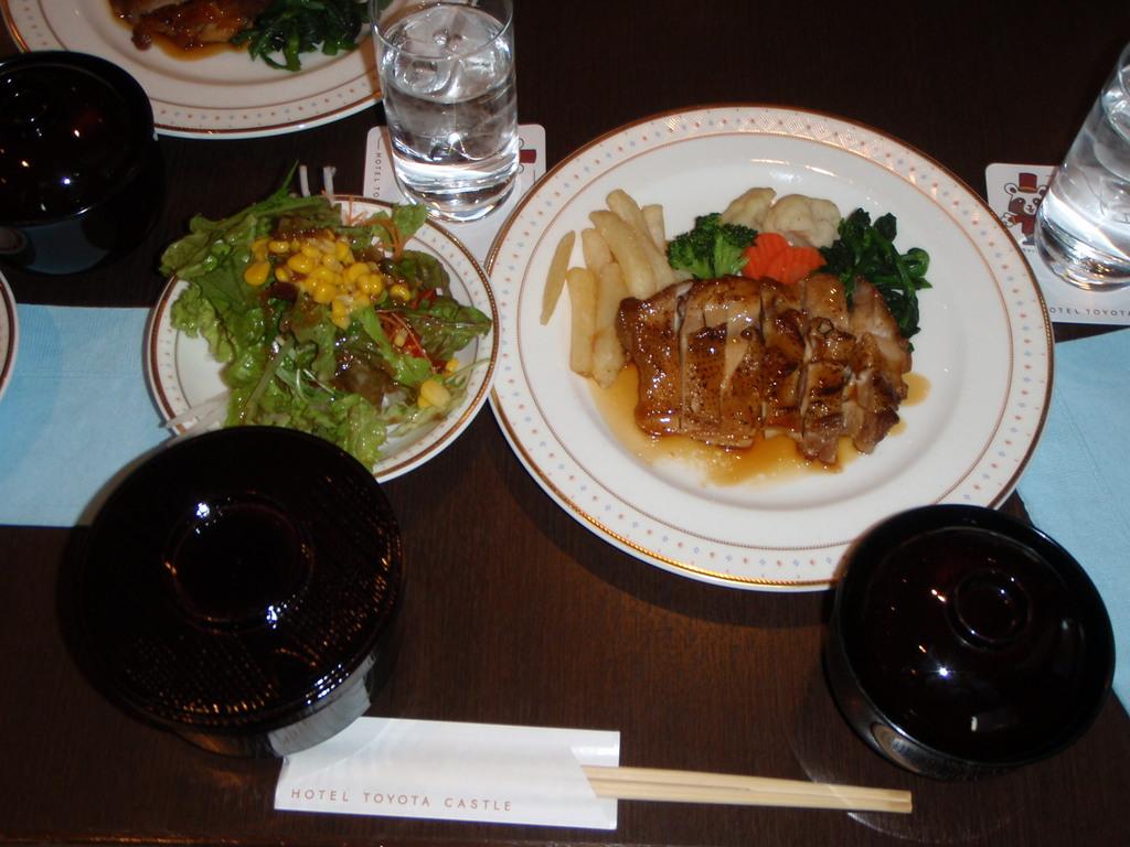 豊田遠征 夕食